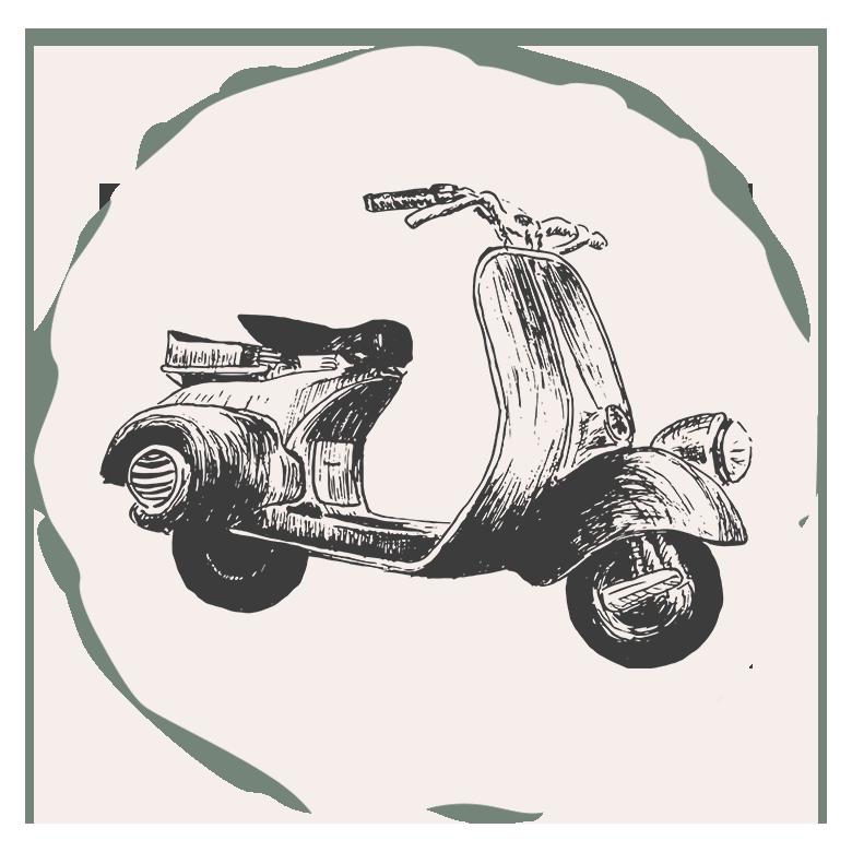 image d'avis - illustration scooter