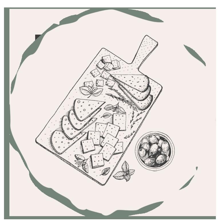 image d'avis - illustration plateau de fromage