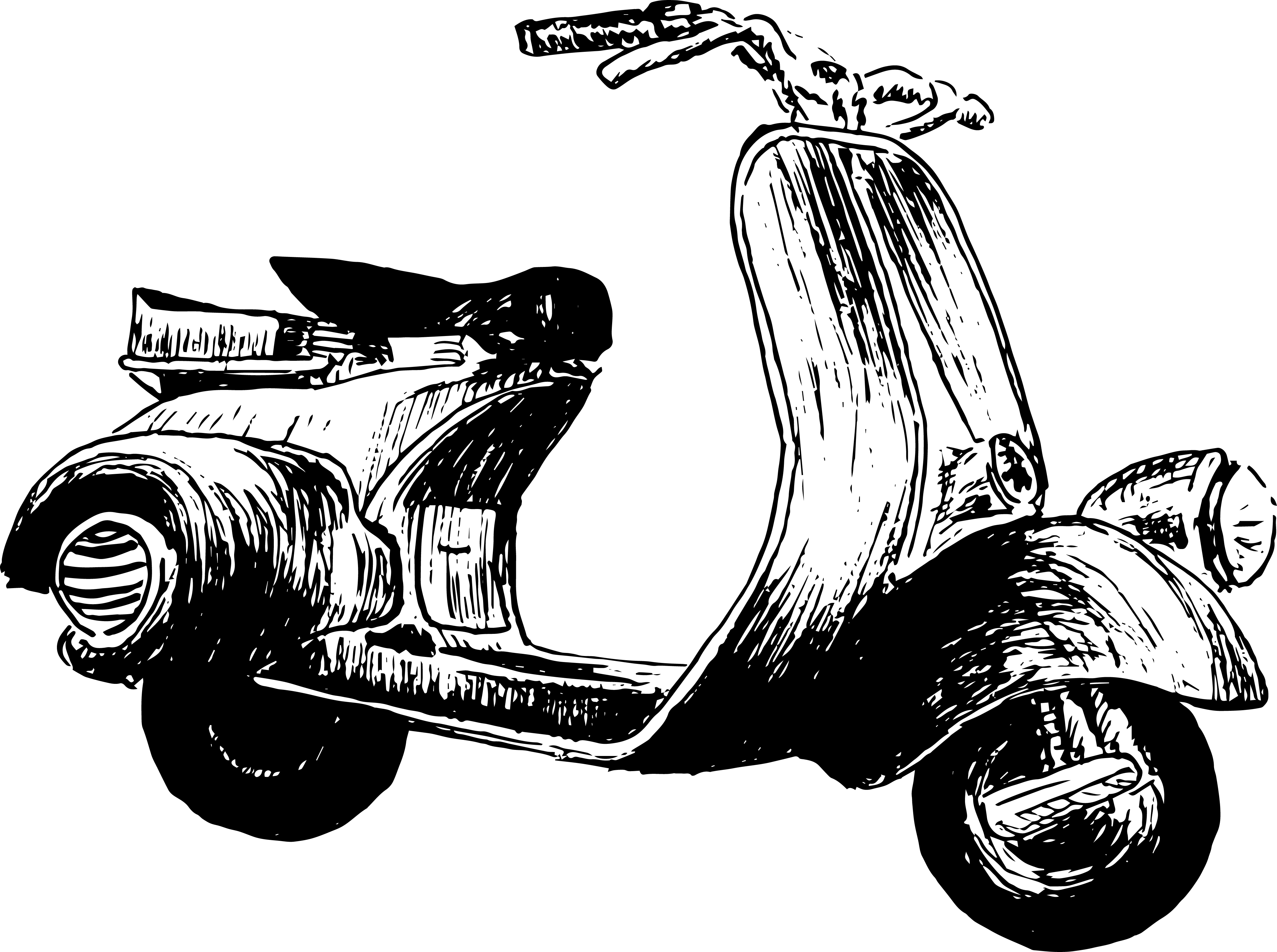 illustration scooter